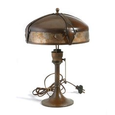 Roycroft Lamp, Copper With Mica #902. : Lot 2049