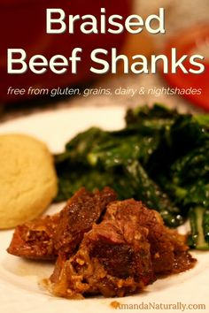 Braised Beef Shanks - this inexpensive cut of beef melts in your mouth when cooked properly!