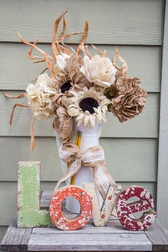 Burlap fall accent piece for your home