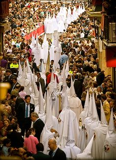 Holy Week in Seville, Spain. The week before the Easter.