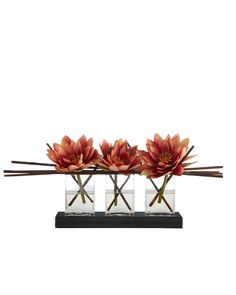 John-Richard Collection Triple Lotus Faux Floral