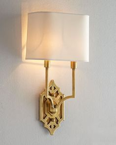 "Silhouette Fretwork Sconce by VISUAL COMFORT at Neiman Marcus | $525 | 8.75""w x 16.5""h x 4.5""d 