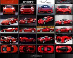 F40, F60, Enzo e La Ferrari