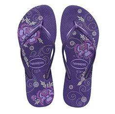 Havaianas Women's Slim Flip Flop (5-6 M US Womens, Floral/DarkPurple) Havaianas http://www.amazon.com/dp/B00ZA8FOHQ/ref=cm_sw_r_pi_dp_SRVWvb0FVJCXE