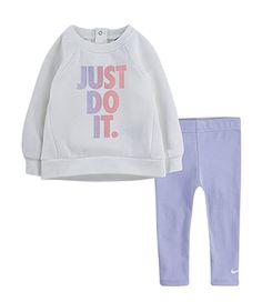 Nike Toddler Girls Tunic And Pants Set - Purple - 5 Toddler Nike Outfits, Cute Toddler Girl Clothes, Nike Kids Clothes, Toddler Girl Fall, Cute Little Girls Outfits, Kids Outfits Girls, Baby Outfits, Girls In Leggings, Girls Pants