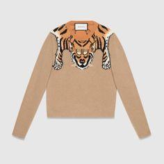 Wool Sweater With Tiger Gucci Sweaters John Wall