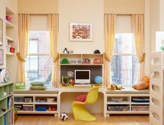 kids room, love the storage room,window, seat combination
