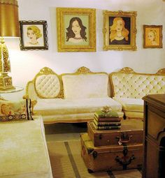 Inspired Design: The Artist Within Victorian Couch, Interior Inspiration, Design Inspiration, Light Browns, Couches, Stage, Portraits, Interiors, Inspired