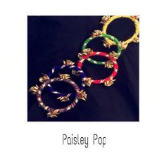 Gota Bangles   Wedding Mehndi Favours   by Paisley Pop Wedding Mehndi, Favours, Paisley, Bangles, Brooch, Indian, Jewels, Pop, Bracelets