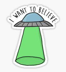 I WANT TO BELIEVE UFO Pegatina