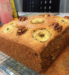 Banana walnut butter cake