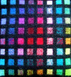 Janene Driscoll | double weave | wool: felted <-- anyone else seeing stained glass windows here?