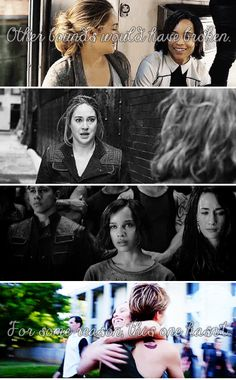 7. Your favorite friendship - Christina and Tris. I almost cried with this picture :'(