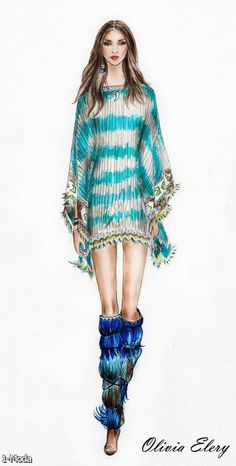 Fashion Illustration Watercolor 2015-2016 | Fashion Trends 2015-2016