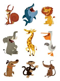 Blue Band Animals by eva galesloot, via Behance