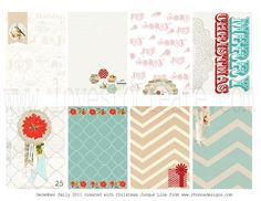 Creating Hybrid Journaling Cards using Christmas Junque from www.rhonnadesigns.com