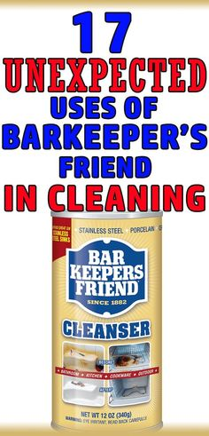 18 Brilliant Cleaning Tips using Barkeeper's Friend - Barkeeper's friend is a great cleaner for home with so many amazing cleaning hacks it has. Household Cleaning Tips, Deep Cleaning Tips, House Cleaning Tips, Diy Cleaning Products, Cleaning Solutions, Spring Cleaning, Cleaning Hacks, Cleaning Rust, Clean Stainless Sink