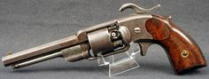 This is one of the rarer of secondary martial US percussion revolvers, with an interesting lineage. The Alsop Navy percussion revolver was based on patents granted to Charles R. Alsop, and was produced in the Middletown, CT factory of his father, Joseph Alsop, Sr. There were only 500 made, most likely all in 1862.