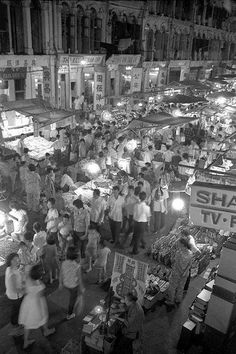 Pasar malams (night markets) in the 1960s and 1970s.