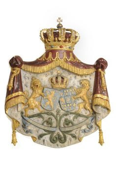 Wapen van Koning Willem III van Oranje Nassau en Emma van Waldeck-Pyrmont Family Trees, All Family, Nassau, Ottonian, Keep Calm Carry On, Crests, Transfer Paper, Coat Of Arms, Rey