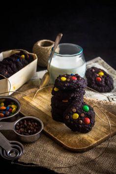 chocolate m&m cookies 2