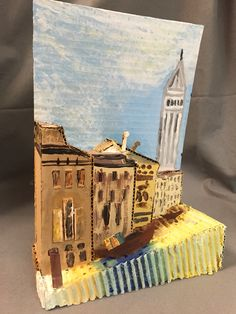 cardboard art projects for middle school 3d Art Projects, 7th Grade Art, Jr Art, Cardboard Art, 3d Painting, Collaborative Art, High Art, Art Classroom, Art Club