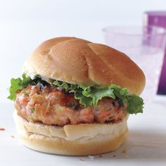 Gingery Salmon Burgers Use gluten free roll!