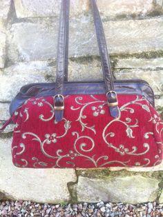 Vintage Floral Tapestry Embroidery Bag by FlorrieJanesVintage