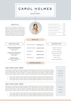 5 page Resume Template and Cover Letter by TheResumeBoutique ---CLICK IMAGE FOR MORE--- resume how to write a resume resume tips resume examples for student Cover Letter Template, Cv Template, Resume Templates, Cover Letters, Design Templates, Cv Design, Resume Design, Graphic Design, Resume Layout