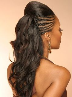I like this. It's something I can do even though my hair is not this long and I can easily keep the style!