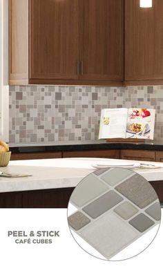#tile #lowes #mosaics #glassmosaics #backsplash PS107PEEL1010 Available at Lowe's and Lowes.com