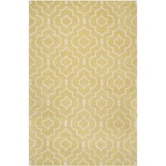 Safavieh Handmade Moroccan Chatham Collection Light Gold/ Ivory Wool Rug (5' x 8')