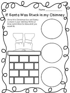 If santa got stuck in the chimney writing activity