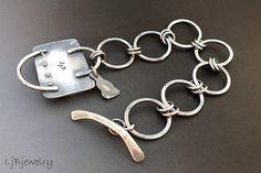 Laura Bouton bracelet, links, showing back of cab setting | Flickr - Photo Sharing!