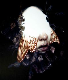"""another piece for my soloshow """"Xtsy"""":  """"The Weeping IV"""", colored pencils on paper, cm 35x30 - Marco Mazzoni"""