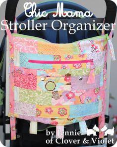 Moda Bake Shop: Chic Mama Stroller Organizer tutorial