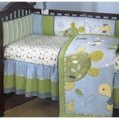 Cocalo Baby Turtle Reef Fitted Crib Sheet - Like the crib skirt Baby Room Themes, Baby Boy Rooms, Nursery Themes, Nursery Ideas, Kids Rooms, Nursery Inspiration, Baby Boy Bedding, Crib Bedding, Comforter