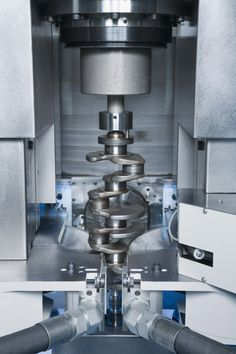 The synchronous support-grinding operation employs an NC steady rest to absorb the tangential forces. This makes for particularly rigid clamping of the workpiece and prevents deflection.   Categories:  CBN Grinding, Crankshafts, EMAG, Grinding, Grinding Machines, Maschines, Processing Technologies