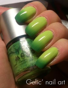 Gelic' nail art: Ylin MOOD -#12 color changing nail polish, swatch & review.  10% Discount code at Born Pretty Store: HRL91 ;D