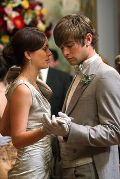 """Blair Waldorf and Nate Archibald at the Contilion Ball in the episode """"High Society""""......."""
