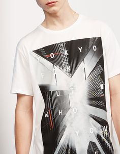 S.F/TOKYO/NYC cities top - T-shirts - Bershka United Kingdom