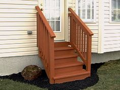 Marvelous Building Outdoor Stairs #10 Exterior Wood Stairs Steps