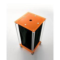 Linen Cart   Toscanaluce Complementi Sqarue Plexiglass And Linen Cart K121 Design