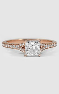 Rose Gold Diamond Ring ~ #diamond #rings #weddingrings