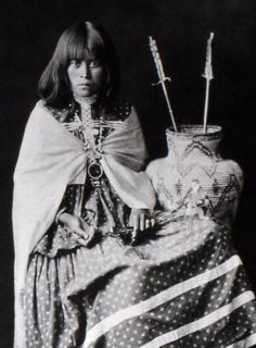 Another photograph of the stunningly beautiful Hattie Tom, Mescalero Apache. No date on this photograph.