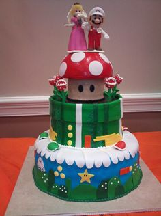 Super Mario Wedding cake my best friend made