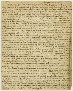 Poe Letter 1: A letter in which Poe writes of the tragedy of his wife's death.