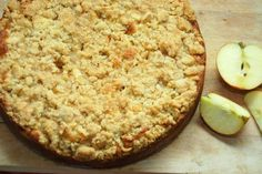 Marzipan Apfel Streuselkuchen - veganes Rezept