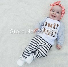 2017 autumn fashion baby clothing boy clothing cotton long-sleeved T-shirt + pants 2 / pcs baby clothes sets baby OUI Baby Outfits, Newborn Outfits, Baby Boy Fashion, Toddler Fashion, Baby Kleidung Set, Baby Boy Clothing Sets, Girl Clothing, Cheap Online Clothing Stores, Womens Trendy Tops