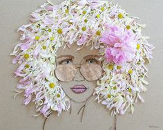 """Beach Babe"" Flower Face Print"